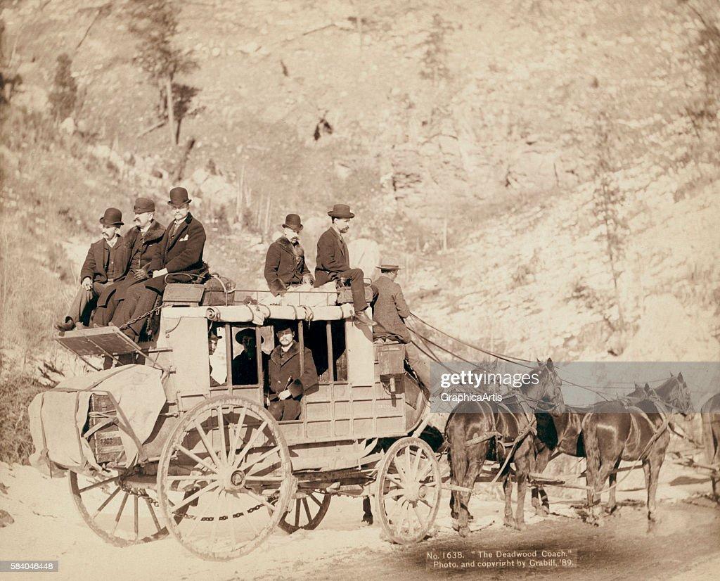 The Deadwood Coach 1889 Albumen print