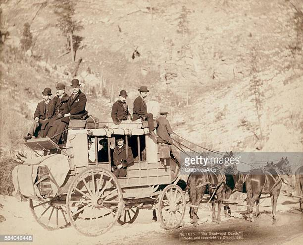 The Deadwood Coach 1889 Albumen print