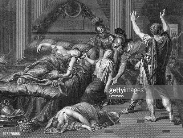 the death of cleopatra how she Antony had committed suicide by stabbing himself in the stomach with a 2-foot  blade after he heard rumors of cleopatra's death still very much.