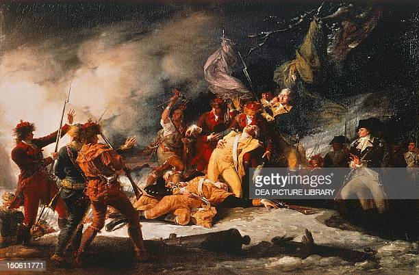 The death of General Richard Montgomery in Quebec December 31 1786 by John Trumbull American War of Indipendence Canada 18th century