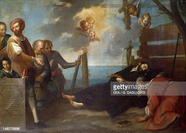 The death of St Francis Xavier by Francisco Antonio Vallejo Queretaro Museo Regional De Queretaro