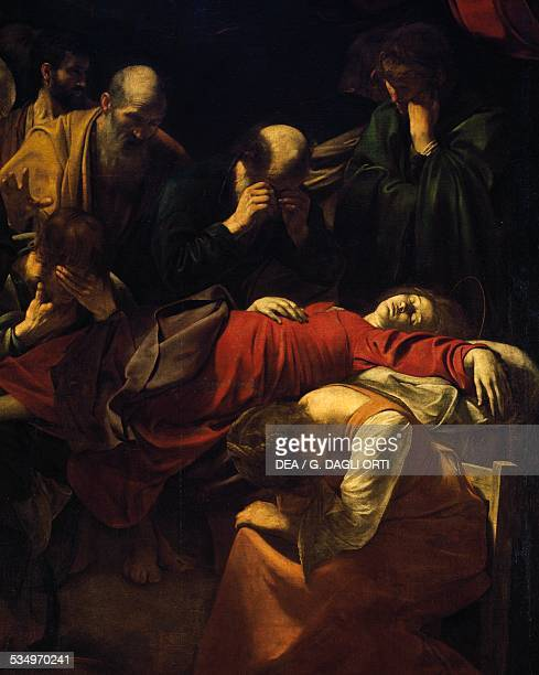 The Death of the Virgin 16011606 detail from the painting by Michelangelo Merisi da Caravaggio oil on canvas 369x245 cm Italy 17th century Paris...