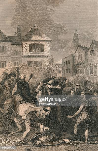 The Death of Wat Tyler King Richard II appeases the rebels on the death of Wat Tyler in Smithfield 19th century Wat Tyler was the leader of the...