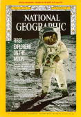The December 1969 Cover Of National Geographic Depicts The Famous Photograph Of Edwin E 'Buzz' Aldrin Taken By Neil Armstrong On The Surface Of The...