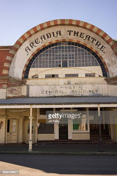 The decrepit and empty former Arcadia theatre in Waimate It's part of Quinn's arcade