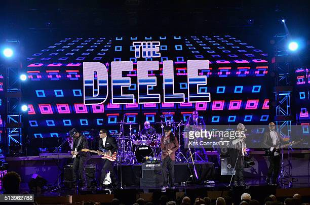 The Deele performs on stage with the Destiny Rode Choir at the BET Honors 2016 Show at Warner Theatre on March 5 2016 in Washington DC