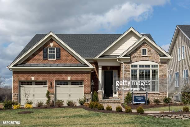The Deerfield Manor Model on March 28 2017 in Gainesville Virginia