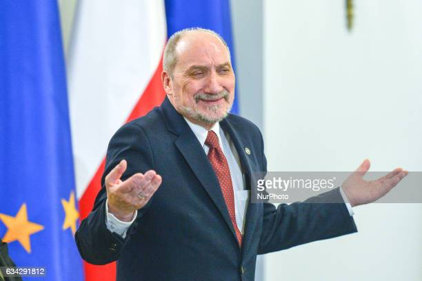 The Defence Minister Antoni Macierewicz at the appointment of the new Commander of the Armed Forces General Jaroslaw Mice and removed the during an...