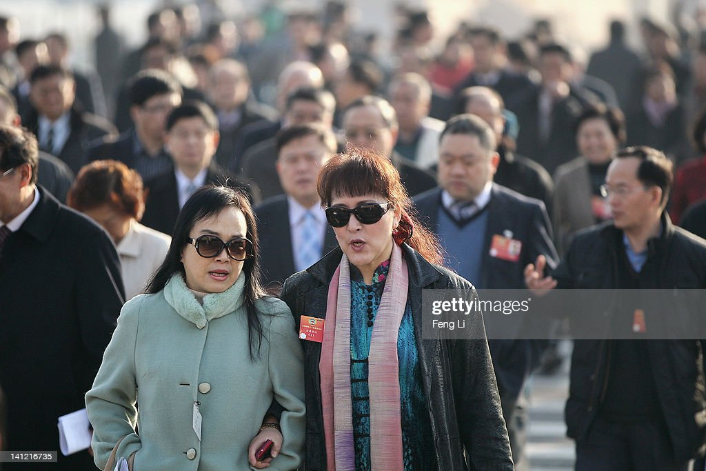 The delegates arrive at the Great Hall of the People before the closing ceremony of the Chinese People's Political Consultative Conference (CPPCC) on March 13, 2012 in Beijing, China. Known as 'liang hui,' or 'two organizations', it consists of meetings of China's legislature, the National People's Congress (NPC), and its advisory auxiliary, the Chinese People's Political Consultative Conference (CPPCC).