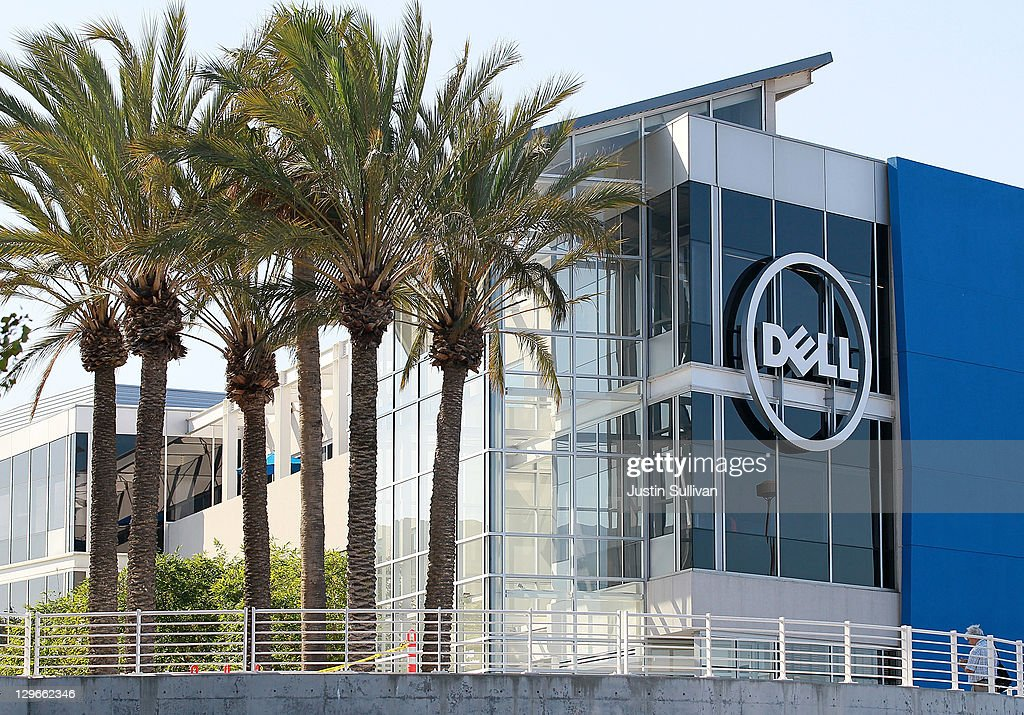 The Dell logo is displayed on the exterior of the new Dell research and development facility on October 19, 2011 in Santa Clara, California. California governor Jerry Brown and Dell Chairman and CEO Michael Dell attended a ribbon cutting to open the new Dell research and development facility that was followed by a career fair to hire hundreds of employees for the new facilty.