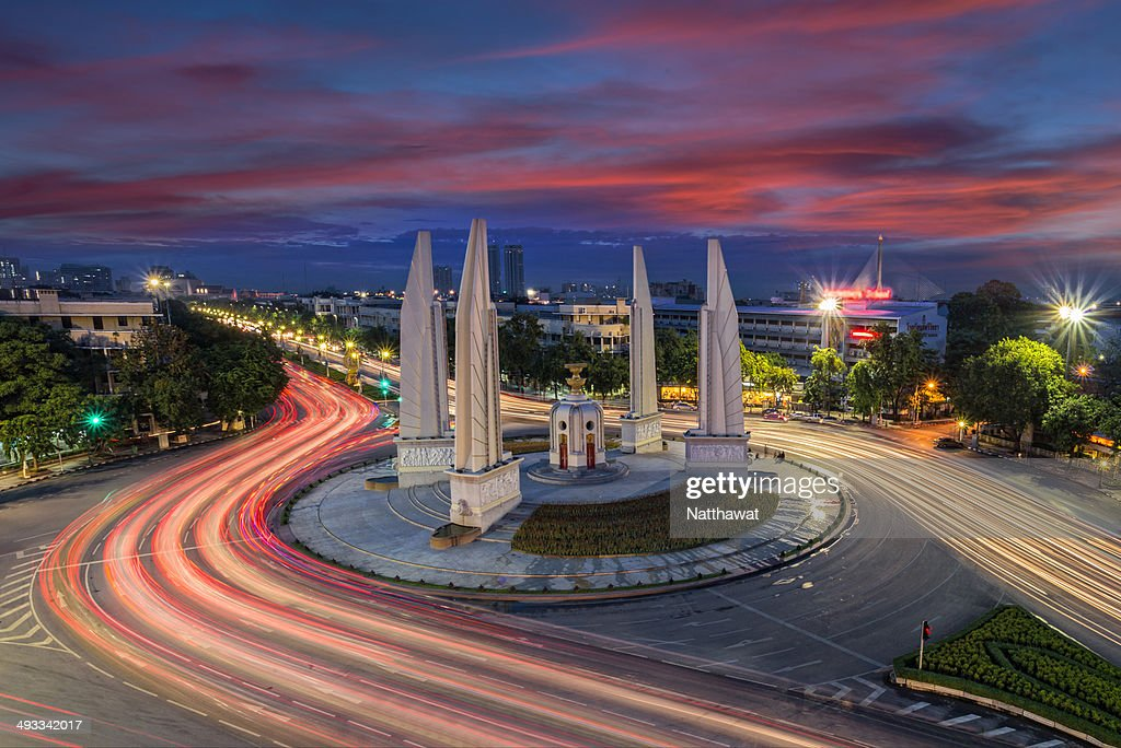 The Democracy Monument in Bangkok