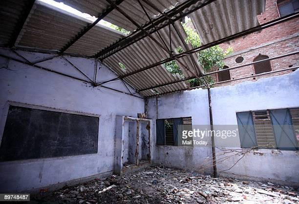 The demolished classrooms of an MCD school in the Trilokpuri area of New Delhi is seen in this picture dated Friday August 7 2009