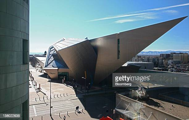 The Denver Art Museum's Hamilton Building juts out into the sky in Denver Colorado US on Thursday Jan 26 2012 Colorado will hold its Republican...