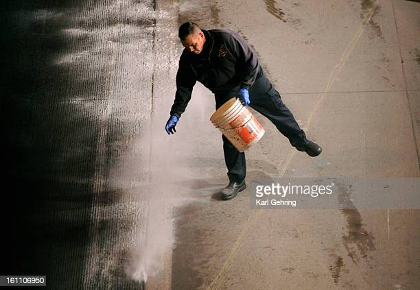 The Denver Fire Department responded to a chemical spill Thursday night December 2 2010 that shut down northbound traffic on Interstate 25 The spill...