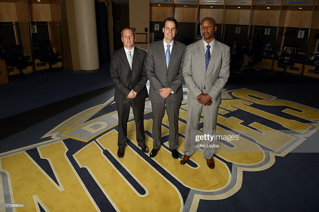 The Denver Nuggets Executive VP of Basketball operations Tim Connelly and President Josh Kroenke introduces new head coach Brian Shaw June 25, 2013 during a press conference at Pepsi Center.