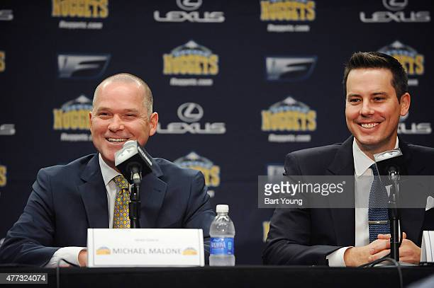 The Denver Nuggets introduce their new head coach Mike Malone on June 16 2015 at the Pepsi Center in Denver Colorado NOTE TO USER User expressly...