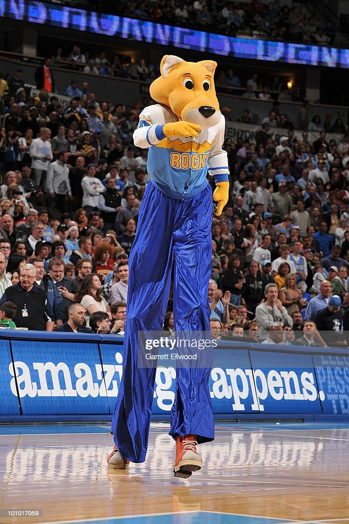 The Denver Nuggets mascot entertains the crowd during the game against the New Orleans Hornets on March 18, 2010 at the Pepsi Center in Denver, Colorado. The Nuggets won 93-80.