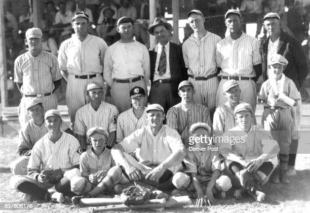 We are enclosing photo of the Olathe Ball Club champions of the Western slope League having won 14 and lost 1 game reading left to right front row B...