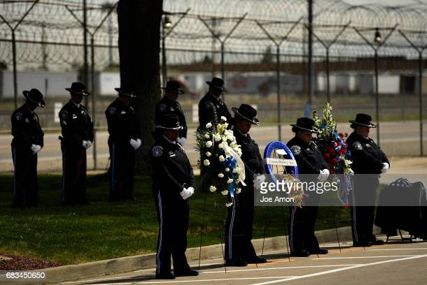 The Denver Sheriff Department memorial ceremony for DSD officers who have died in the line of duty at the Denver County Jail Edward E Baird March 16...