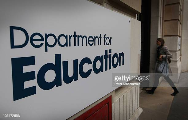 The Department for Education on October 13 2010 in London England Government departments are braced for budget cuts when Chancellor of the Exchequer...