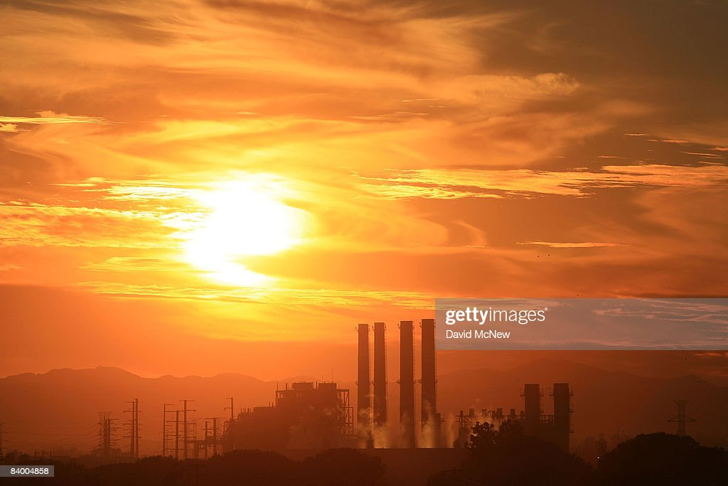 The Department of Water and Power San Fernando Valley Generating Station is seen December 11 2008 in Sun Valley California Under a new climate plan...