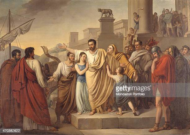 'The departure of Regulus to Carthage by Sigismund Nappi 19th century oil on canvas Italy Lombardy Milan Brera Collection Whole artwork view...