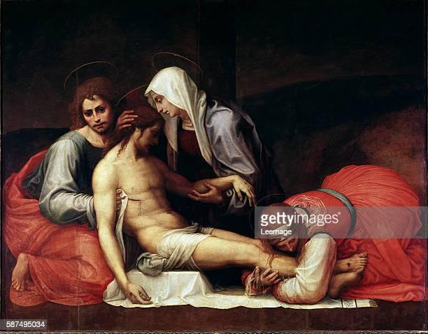 The Deposition by Bartolomeo della Porta aka Fra Bartolomeo Oil on wood 158x199 cm c1515 Galleria Palatina Palazzo Pitti Florence Italy