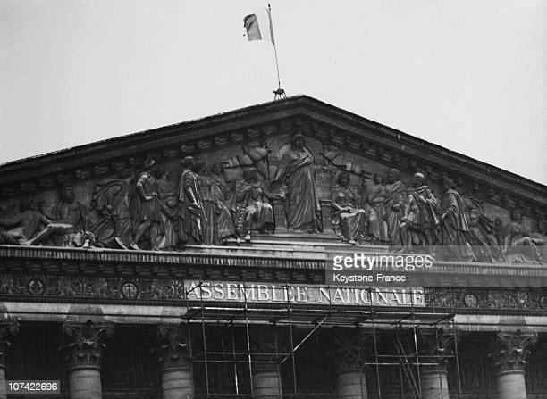 The Deputy Chamber Changing Its Name To The French National Assembly In Paris On 1946