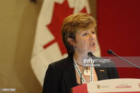 The Deputy Minister of the Ministry of Agriculture of Saskatchewan Alanna Koch speaks during the inauguration of the 2012 TriNational Agricultural...