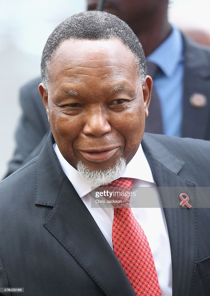 The Deputy President of the Republic of South Africa, His Excellency Kgalema Motlanthe arrives for a National Service of Thanksgiving to celebrate the life of Nelson Mandela at Westminster Abbey on March 3, 2014 in London, England.