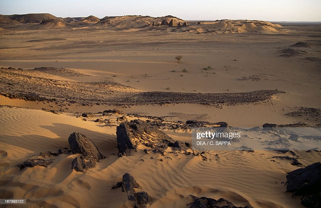 The desert around Meroe Sahara Desert Sudan