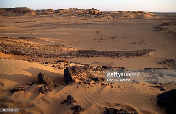 The desert around Meroe Sahara Desert Sudan