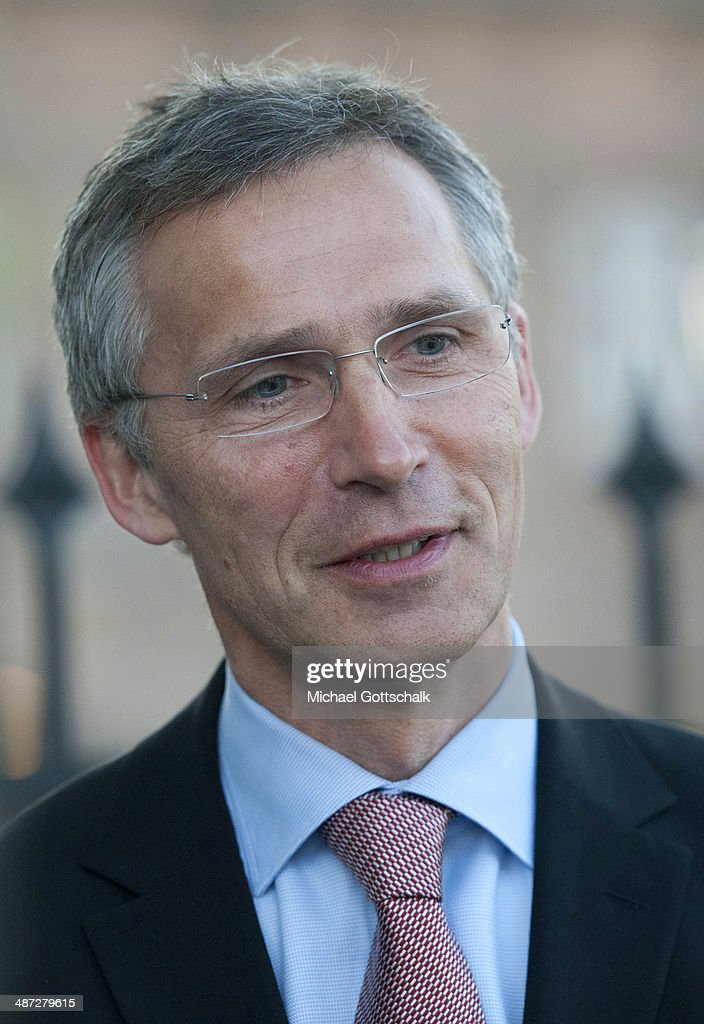 The designated secretary general of NATO, Jens Stoltenberg, during a meeting with German Foreign Minister Frank-Walter Steinmeier (not pictured) during a visit to Norway on April 29, 2014 in Oslo, Norway. Steinmeier has urged his Russian counterpart, Sergey Lavrov, to help calm the situation in eastern Ukraine as the German government requested Moscow's assistance in securing the release of the remaining members of the Organisation for Security and Cooperation in Europe (OSCE) team, currently held hostage by pro-Russian separatists in Slaviansk.