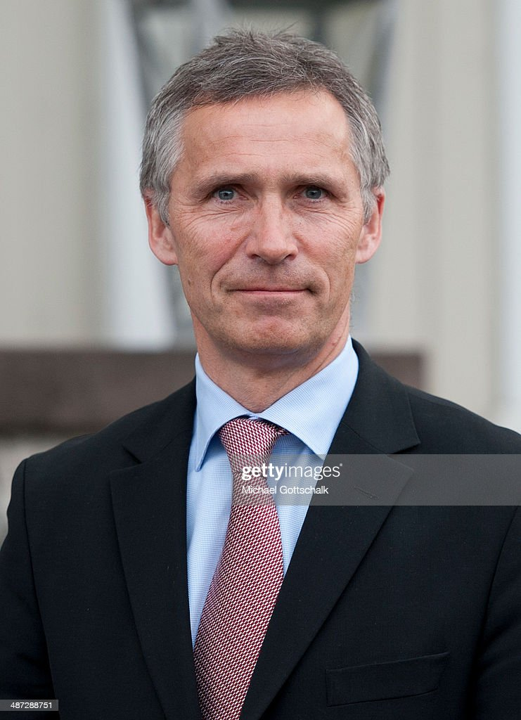 The designated secretary general of NATO, <a gi-track='captionPersonalityLinkClicked' href=/galleries/search?phrase=Jens+Stoltenberg&family=editorial&specificpeople=558620 ng-click='$event.stopPropagation()'>Jens Stoltenberg</a>, during a meeting with German Foreign Minister Frank-Walter Steinmeier (not pictured) during a visit to norway on April 29, 2014 in Oslo, Norway. Steinmeier has urged his Russian counterpart, Sergey Lavrov, to help calm the situation in eastern Ukraine as the German government requested Moscow's assistance in securing the release of the remaining members of the Organisation for Security and Cooperation in Europe (OSCE) team, currently held hostage by pro-Russian separatists in Slaviansk.