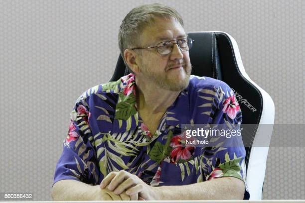 The designer and producer of electronic games David Crane participates in an autograph session with fans during the 10th edition of Brazil Game Show...