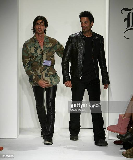 The designers of Lords at Mercedes Benz Fashion Week in Smashbox Studios on March 31 2004 in Culver City California