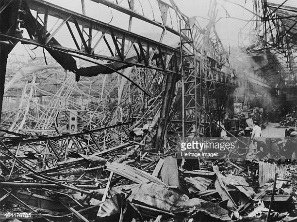 The destruction of Renault's Billancourt factory Paris France WWII c1939c1945 Half of the Billancourt workshop area was destroyed by Allied bombing...