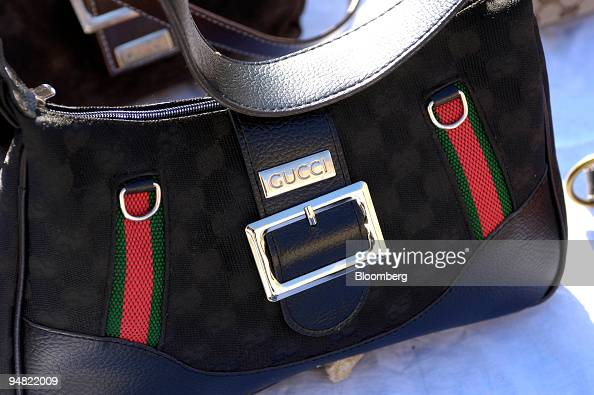 The detail seen on a fake Gucci bag on sale near the Vatican in Rome Italy Thursday January 12 2006 Italy plans to protect its $50 billion fashion...