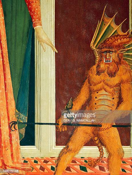 The devil detail from the Santa Maria del Soccorso 14751485 attributed to the Master of the Johnson Nativity Santo Spirito Church Florence