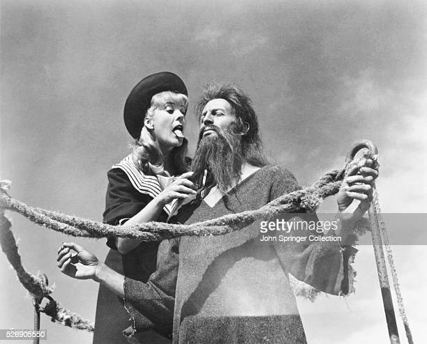 The Devil played by Silvia Pinal tempts Simon in a scene from the 1965 film Simon del desierto