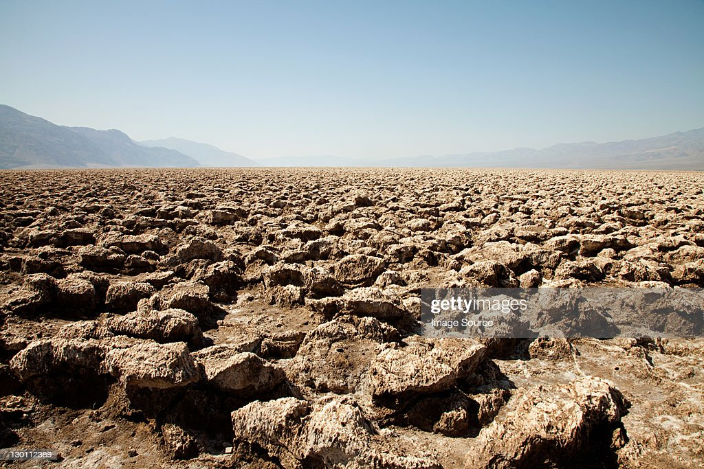 The Devil's Golf Course, Death Valley, Nevada, USA : Stock Photo