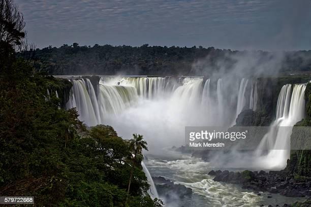 The Devil's Throat, Garganta do Diabo, at the head of Iguazu Falls in Brazil, early morning