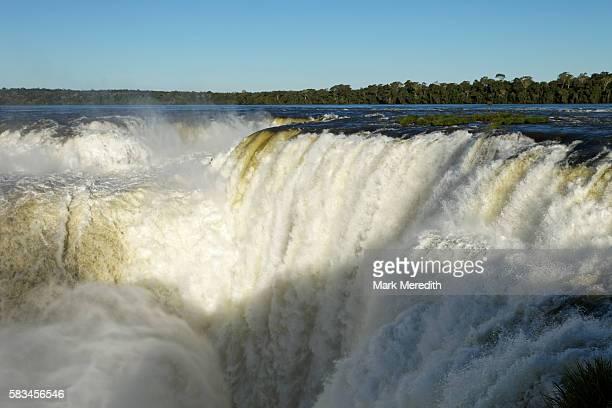 The Devil's Throat waterfall at Iguazu Falls