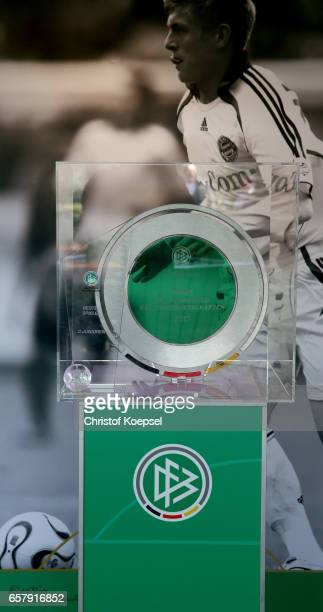 The DFB C Juniors Cup trophy is seen during the B and C Juniors German Indoor Football Championship at Sporthalle West on March 26 2017 in Gevelsberg...