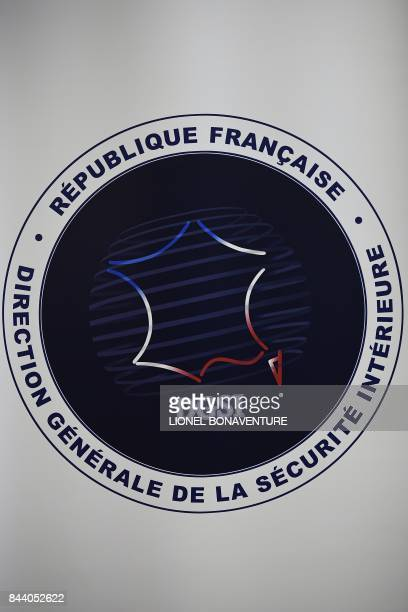 The DGSI logo is pictured at the DGSI heaquarters in LevalloisPerret on September 8 2017 / AFP PHOTO / Lionel BONAVENTURE