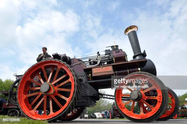The Diamond Queen steam engine built for Queen Victoria's Jubilee at Castle Combe Steam Fair in Wiltshire
