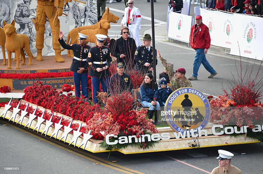 The Dick Van Patten's Natural Balance Pet Foods, Inc. float participates in the 124th Tournamernt of Roses Parade on January 1, 2013 in Pasadena, California.