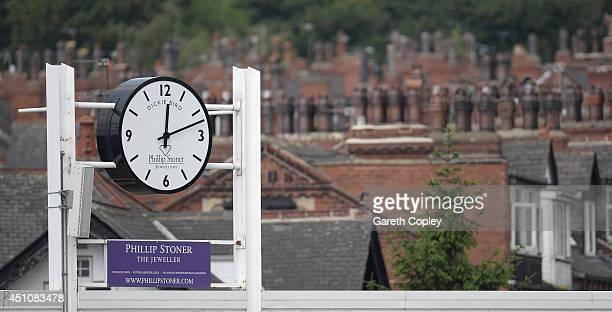 The Dickie Bird clock during day four of 2nd Investec Test match between England and Sri Lanka at Headingley Cricket Ground on June 23 2014 in Leeds...