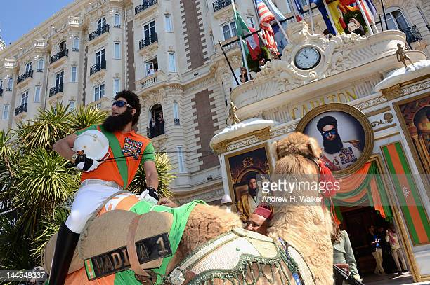 The Dictator arrives at the Carlton Hotel during the 65th Annual Cannes Film Festival on May 16 2012 in Cannes France