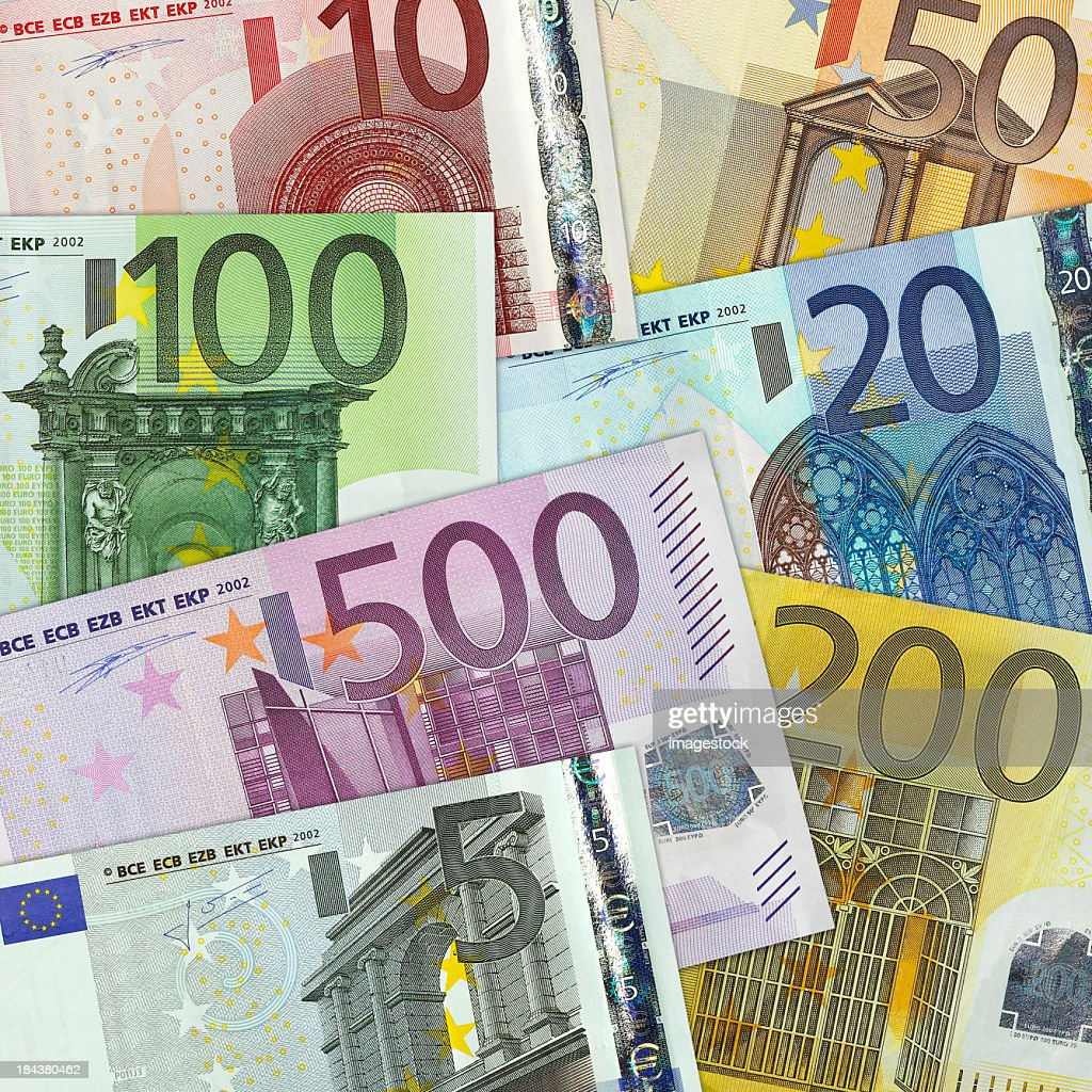 European currency on a graph